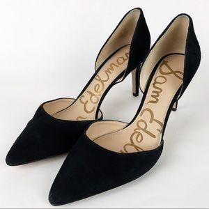 Sam Edelman Telsa High Heels Suede Pumps 9.5 Black